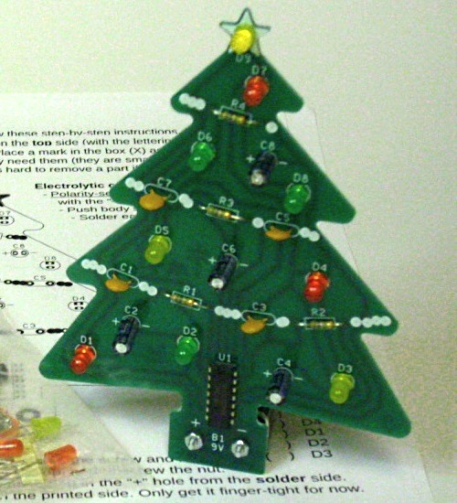 Assembled Electronic Christmas Tree